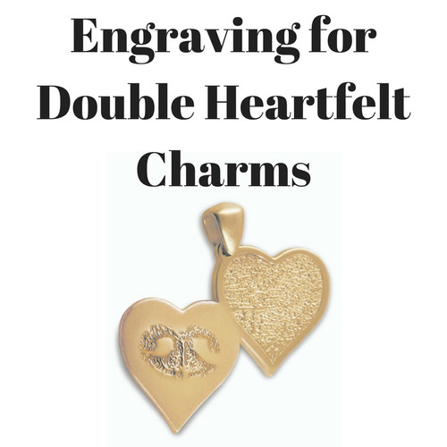 Add Engraving On The Back Of Your Double Heartfelt Charms