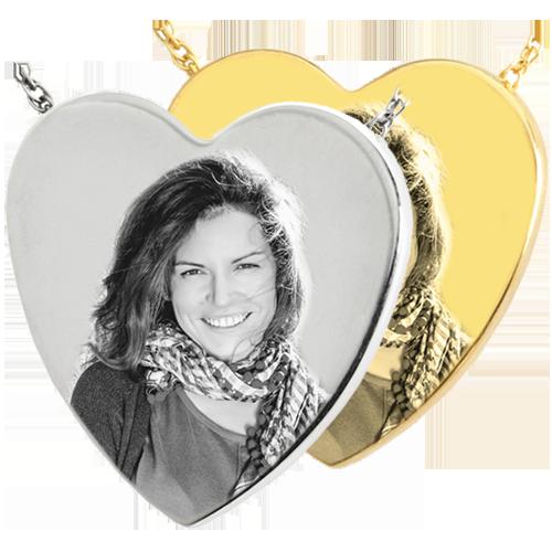Heart Print/Photo Pendant