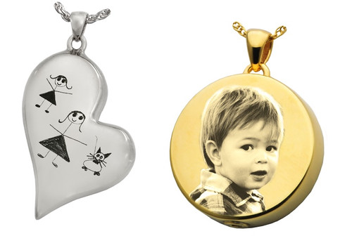 Engraving for Teardrop Heart and Round Pendants (BACK)