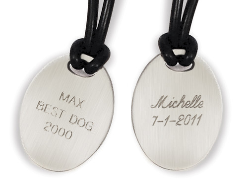 Engraving for Classic Oval Noble Bronze Charm (Back)