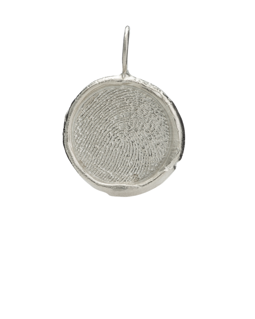 Large Organics Pendant in White Gold