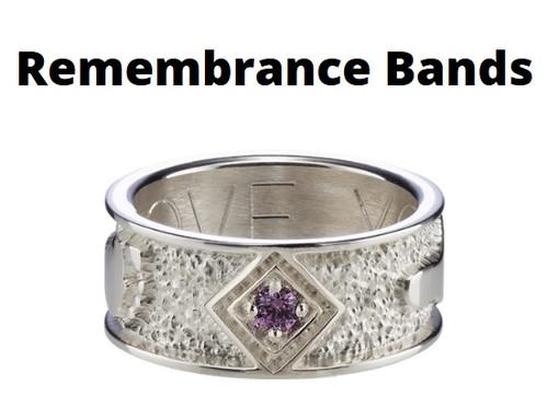 Remeberance Band Rings