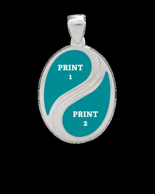 Yin Yang Classic Pendant shows print positions
