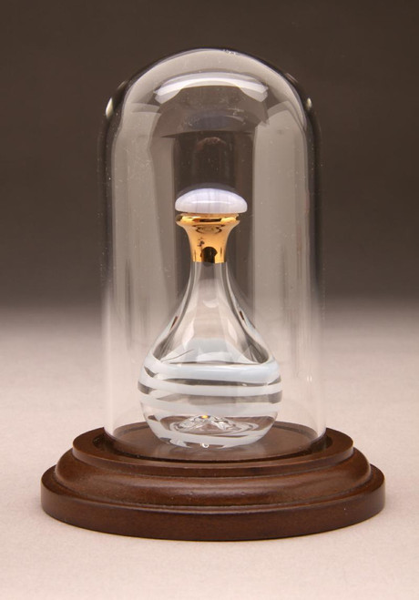 Baby Blue Contemporary Tear Bottle - pictured with Tall Mini Dome - Sold Separately