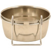 Stainless Steel Coop Cup & Hanger Parrot Bowl - 2 Sizes