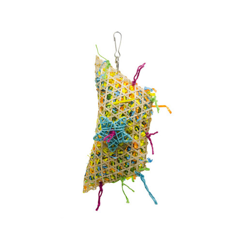 Colourful Foraging Pouch Chewable Natural Parrot Toy