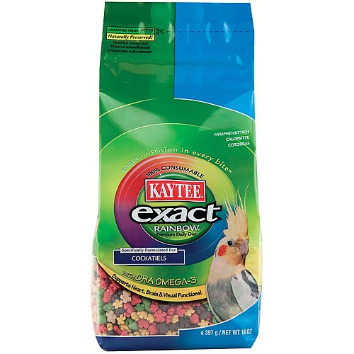 Kaytee Exact Rainbow Cockatiel - 14oz - Complete Food