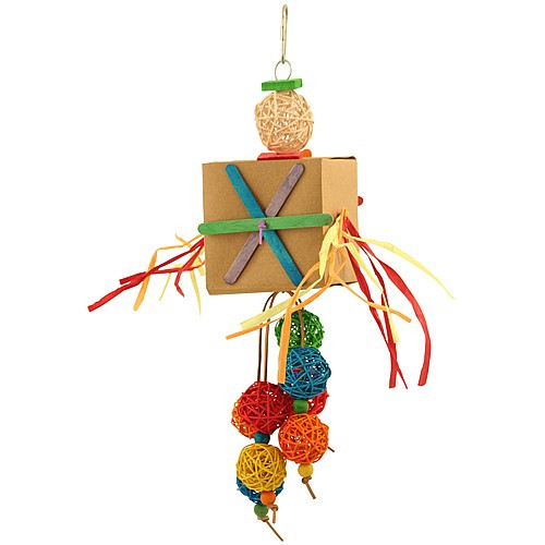 Shred and Spin Bonus Box - Chewable Foraging Parrot Toy