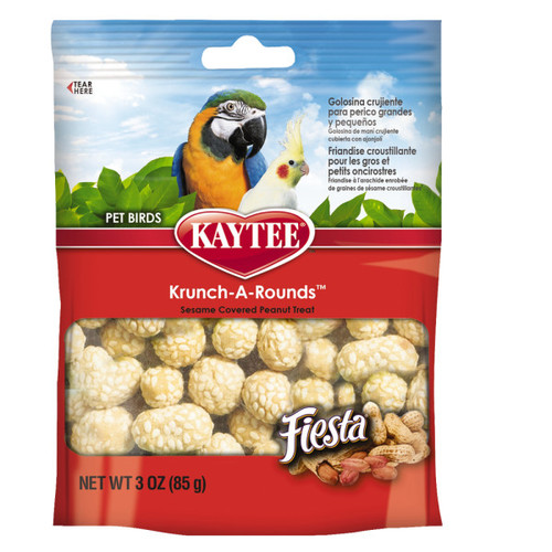 Kaytee Fiesta Krunch-A-Round Parrot Treat - 85g
