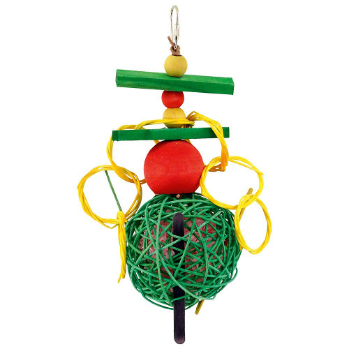 Hanging Mega Munch Ball Parrot Toy