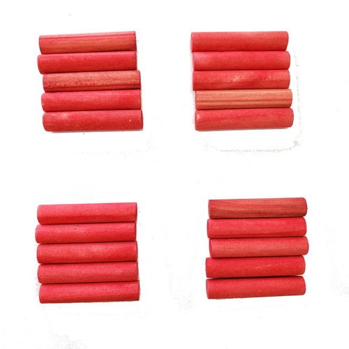 Red Dowels Foot Chew Parrot Toy and Toy Making Part - Pack 20