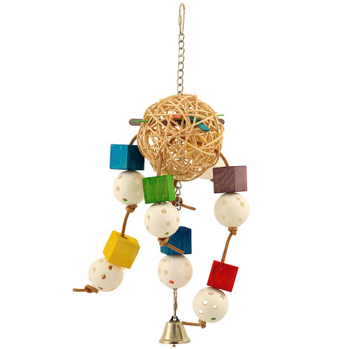 Balls and Blocks Hanging Parrot Toy