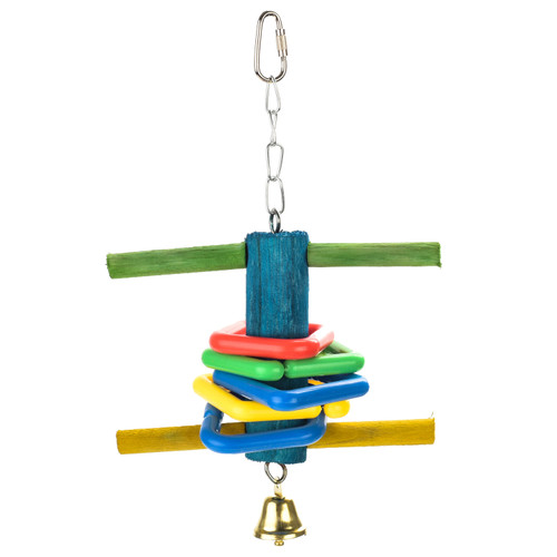 Swing & Chime Interactive Parakeet & Small Parrot Swing