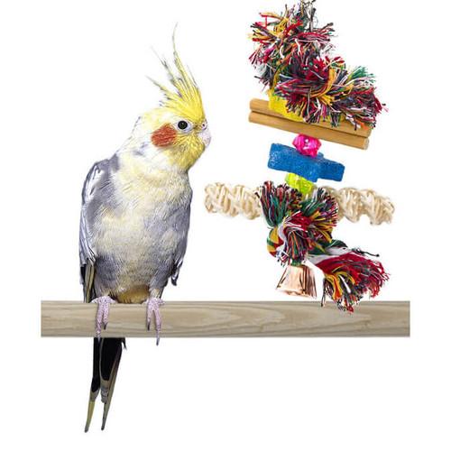 Beak Conditioning Combo Kabob Parrot Toy - Medium