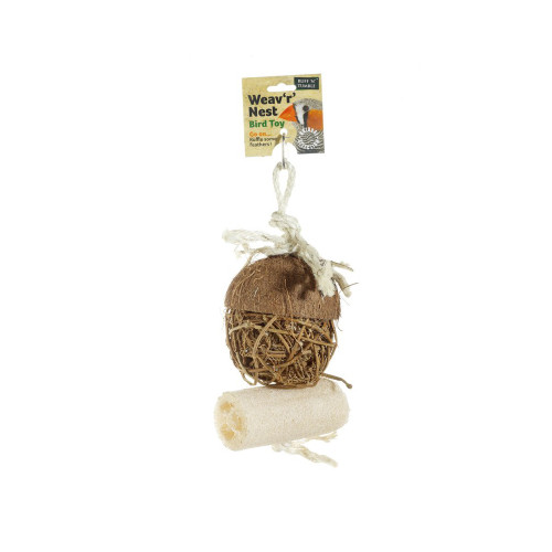 Weaver 'r' Nest Natural Chew Parrot Toy