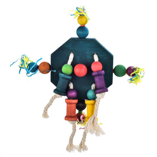 Parrot Essentials Twirler Natural Spinning Parrot Toy