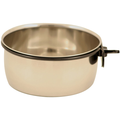 Stainless Steel Coop Cup & Clamp - Parrot Bowl