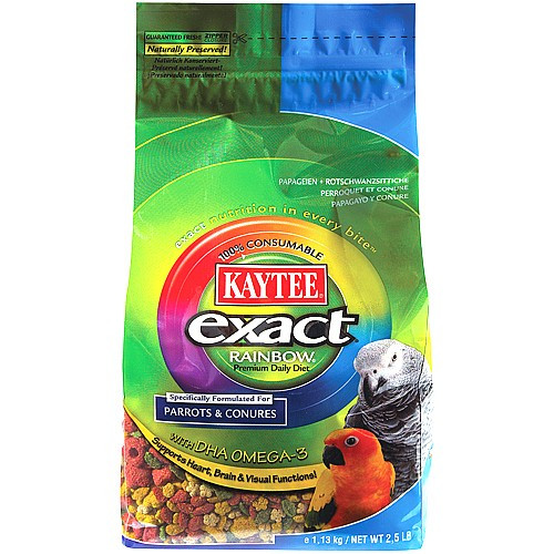 Kaytee Exact Rainbow Complete Food for Parrots & Conures