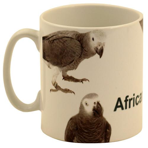 African Grey Parrots Mug - 5 Greys