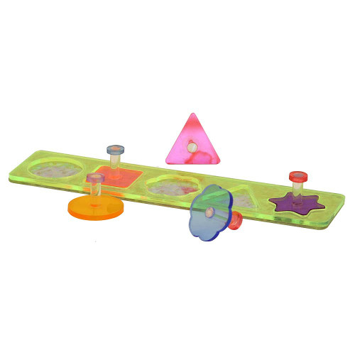 Acrylic Shapes Puzzle Board Parrot Toy