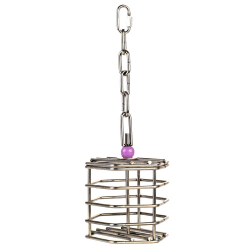Baffle Cage - Stainless Steel Foraging Parrot Toy - Small