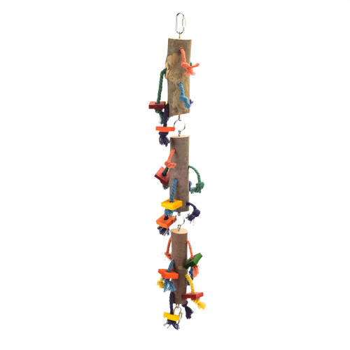 Loads of Legs Wood and Rope Chewing Natural Parrot Toy