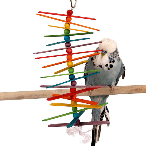 Popsicle Sticks Budgie, Parakeet & Parrot Toy