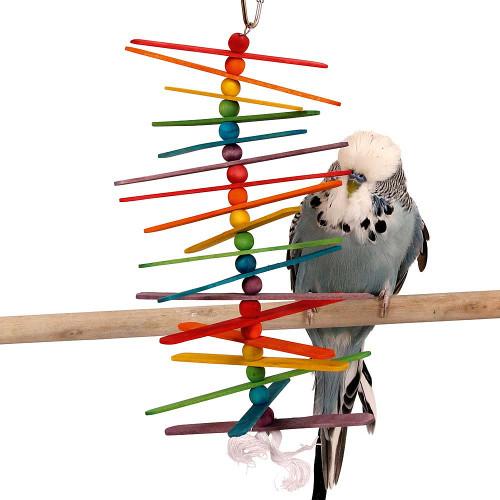 Popsicle Sticks Budgie, Parakeet & Parrot Toy