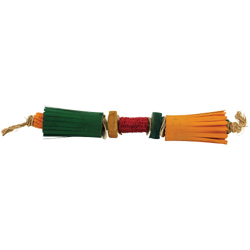Double Flower Natural Parrot Toy - Large