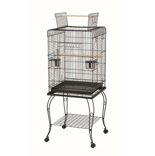 Parrot Essentials - Rodopi Parrot Cage with Stand - Black