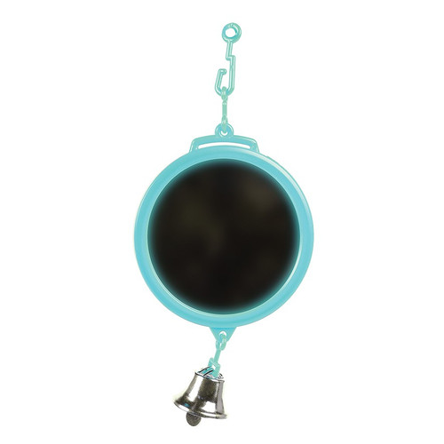 Round Mirror Parrot Toy - Mini