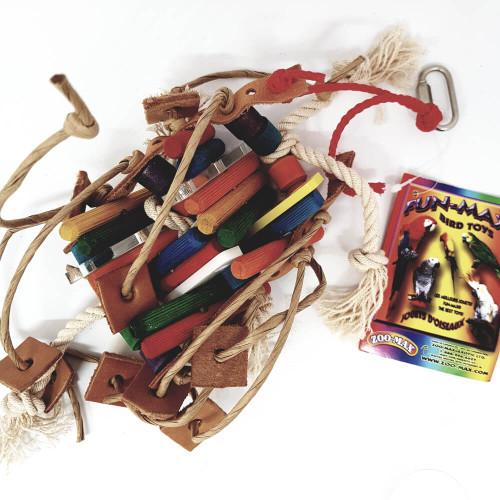 Bobino - Chew & Preen Colourful Parrot Toy