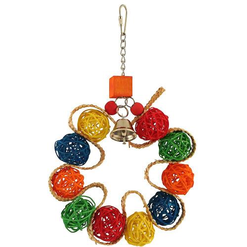 Vine Ball Braided Wreath Parrot Toy