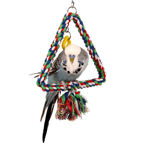 Cotton Triangle Swinging Parrot Perch - Small
