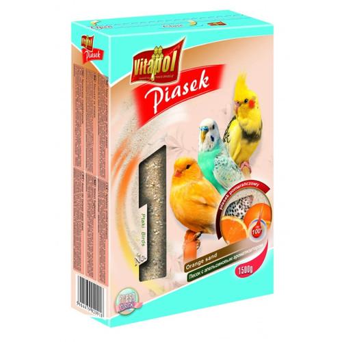Vitapol Sand for Parrots & Birds - Oyster Shell & Orange - 1.5kg