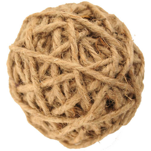 Jute Rope Ball Parrot Foot Toy - Medium