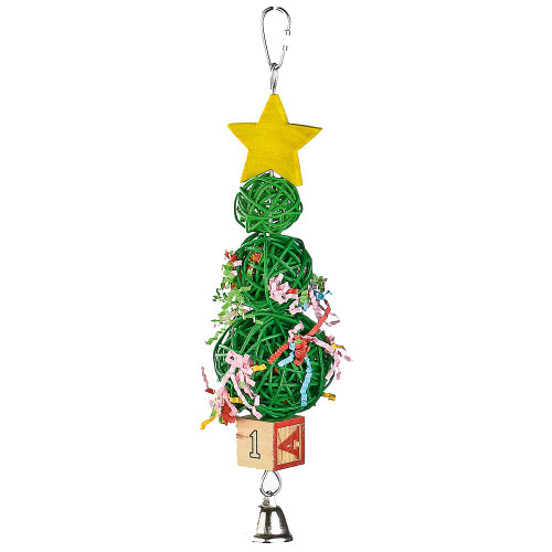 Vine Ball Christmas Tree Parrot Toy