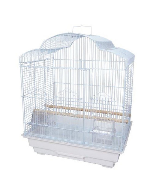 Parrot Essentials - Lubka Solid Top Parakeet & Parrot Cage - White