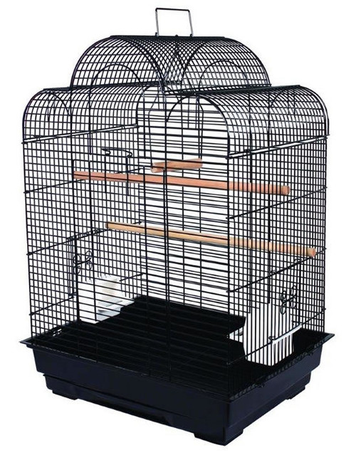 Parrot Essentials - Raina Solid Top Parrot Cage - Black
