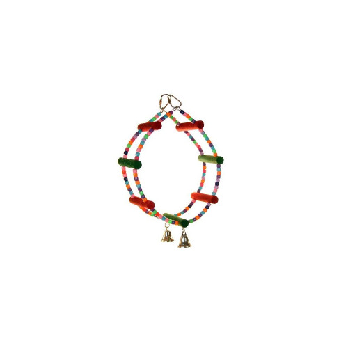 Rainbow Roundabout Parrot Toy & Swing
