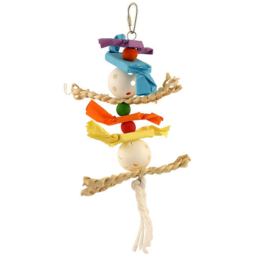 Husker Candy Crunch Parrot Toy - Medium