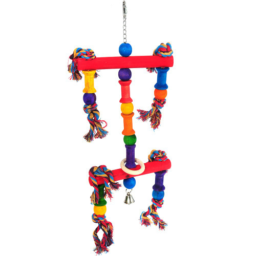 Juggler Wood & Rope Parrot Toy - Large