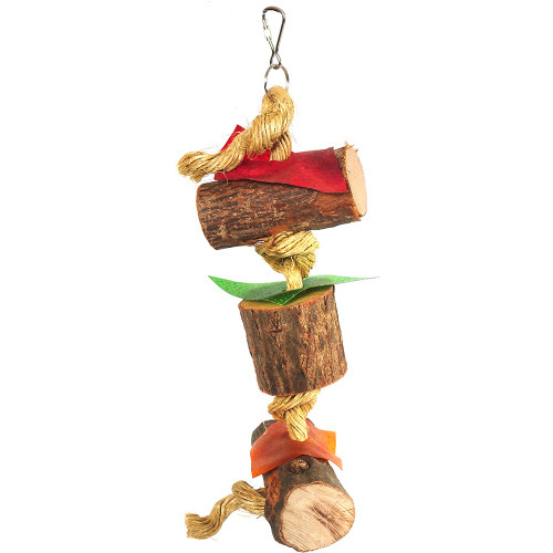 Playtime Natural Wood 3 Parrot Toy
