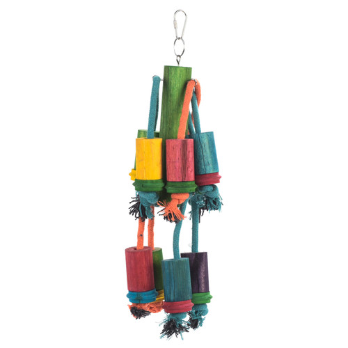 Hanging Cylinders Chew & Preen Parrot Toy