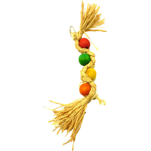 Plaited Wave Large Parrot Toy