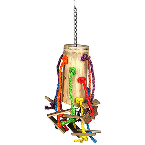 Bamboo Barrel Parrot Toy - Large
