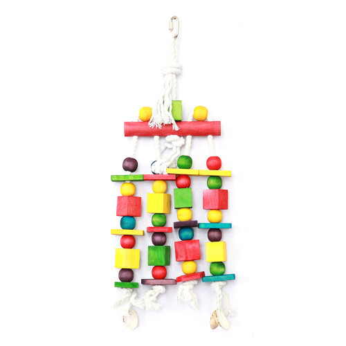 Blocks 'n' Beads Natural Parrot Toy