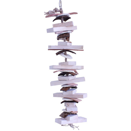 Natural Stacker Parrot Toy