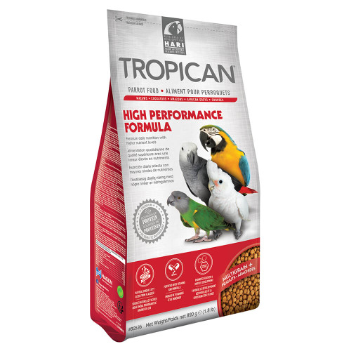 Tropican High Performance Granules Complete Parrot Food 820g