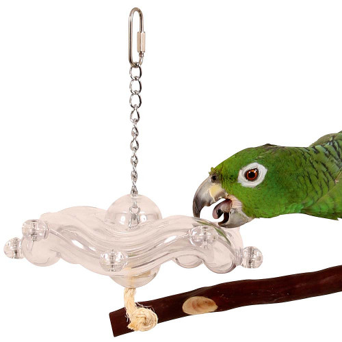 Tilt a Wheel Hanging Parrot Foraging Toy